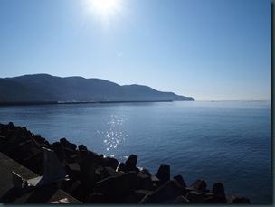 海まで散歩。