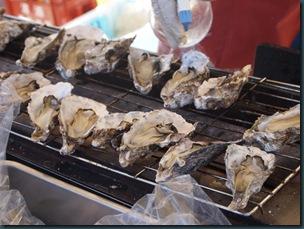 焼き牡蠣(*´Д`*)~